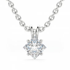 Кулон с перевернутым бриллиантом принцесса