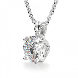 Кулон с круглым бриллиантом