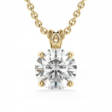 Кулон с бриллиантом