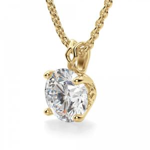 Кулон с бриллиантом из желтого золота - Фото 1