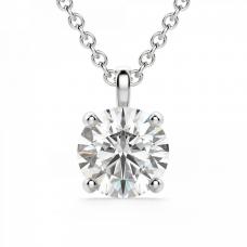 Кулон на цепочке с бриллиантом