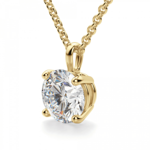 Кулон из золота с бриллиантон - Фото 1