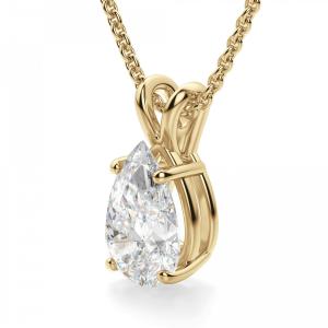 Кулон золотой с бриллиантом капля