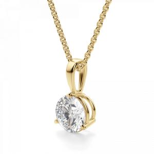 Кулон с бриллиантом в 3 лапках - Фото 1
