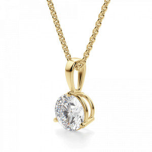 Кулон с бриллиантом в 3 лапках