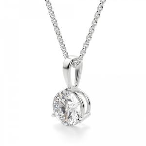Кулон с бриллиантом на петельке