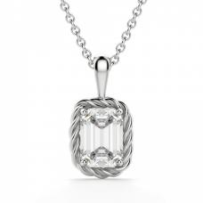 Кулон с бриллиантом эмеральд