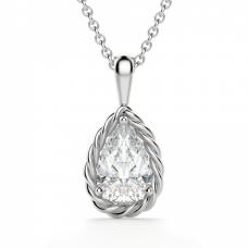 Кулон с бриллиантом капля