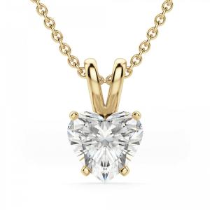Кулон с бриллиантом сердце