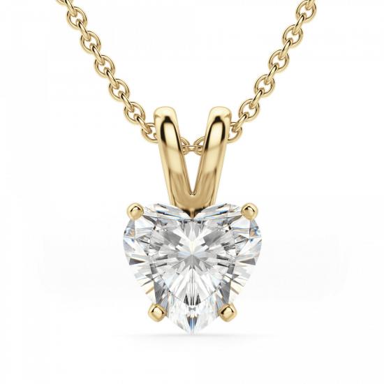 Кулон с бриллиантом сердце, Больше Изображение 1