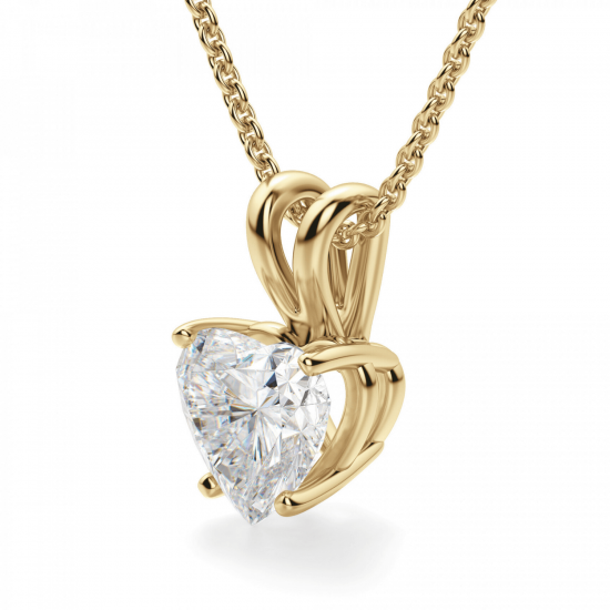 Кулон с бриллиантом сердце,  Больше Изображение 2