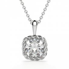Кулон с бриллиантом кушон