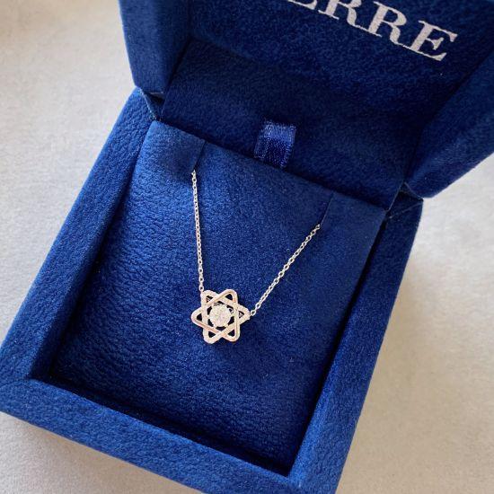 Кулон Звезда Давида с бриллиантами,  Больше Изображение 3