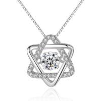 Кулон Звезда Давида с бриллиантами