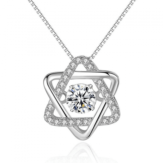 Кулон Звезда Давида с бриллиантами, Больше Изображение 1