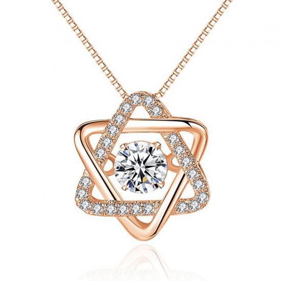 Подвеска Звезда Давида с бриллиантами, Больше Изображение 1