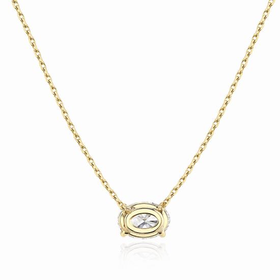 Подвеска с овальным бриллиантом из золота,  Больше Изображение 3