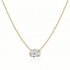 Подвеска с овальным бриллиантом из золота