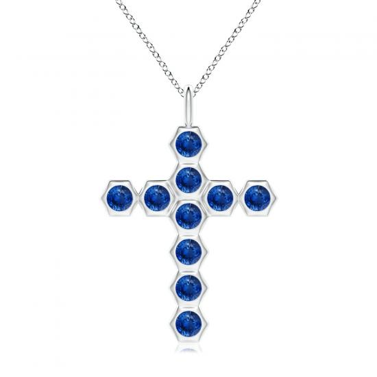 Крестик с сапфирами Miel, Больше Изображение 1