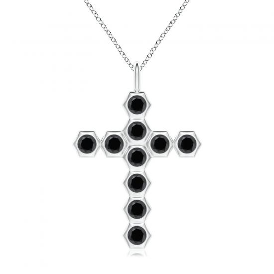 Крестик с черными бриллиантами Miel, Больше Изображение 1