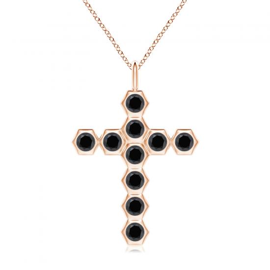 Крестик с черными бриллиантами, Больше Изображение 1