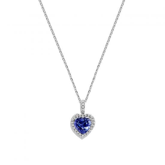 Кулон с танзанитом и бриллиантами, Больше Изображение 1