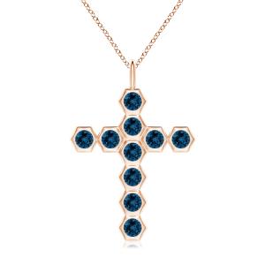 Крестик из золота с топазами