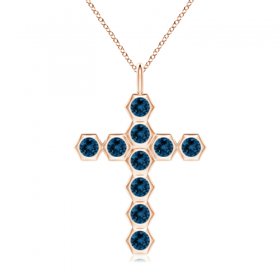 Крестик из золота с топазами Miel, Больше Изображение 1