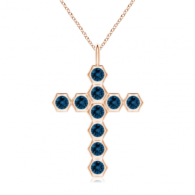 Крестик из золота с топазами Miel