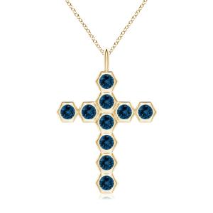 Крестик золотой с топазами Miel