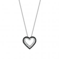 Подвеска Сердце из бриллиантов