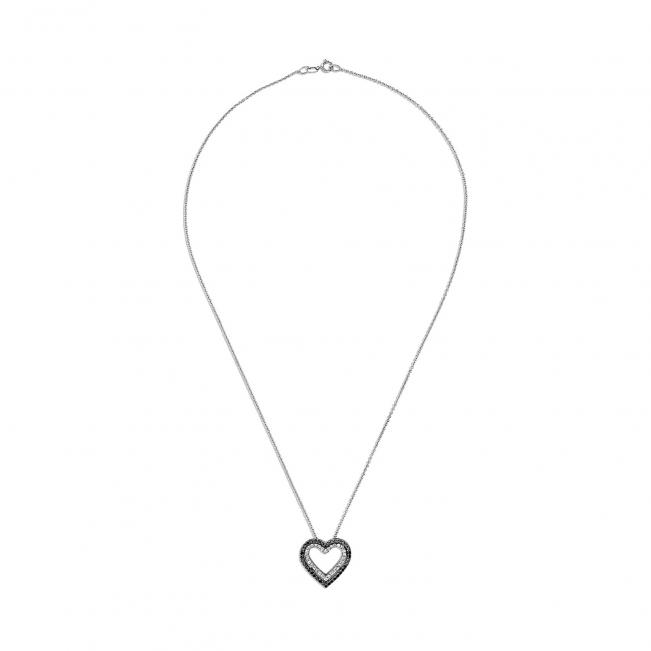 Подвеска Сердце из бриллиантов - Фото 1