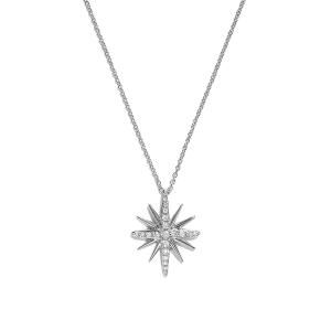 Кулон Звезда с бриллиантами