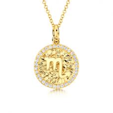 Медальон знак Зодиака - Дева