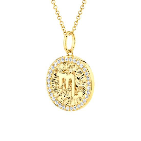 Медальон знак Зодиака - Дева,  Больше Изображение 2