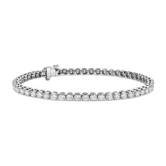 Теннисный браслет с бриллиантами 4.00 карата, Больше Изображение 1