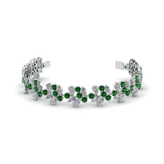 Браслет с бриллиантами и изумрудами PIERRE Nature, Больше Изображение 1