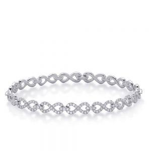Тонкий браслет с бриллиантами Бесконечность