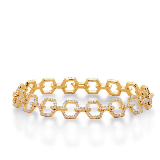 Браслет-цепь из золота с бриллиантами