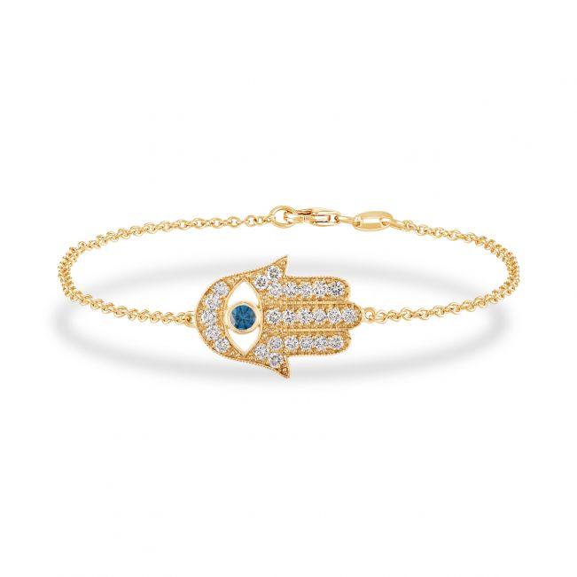 Браслет Хамса с бриллиантами из золота