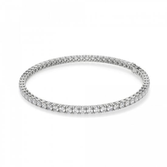 Теннисный браслет с бриллиантами 3,72 карата, Больше Изображение 1