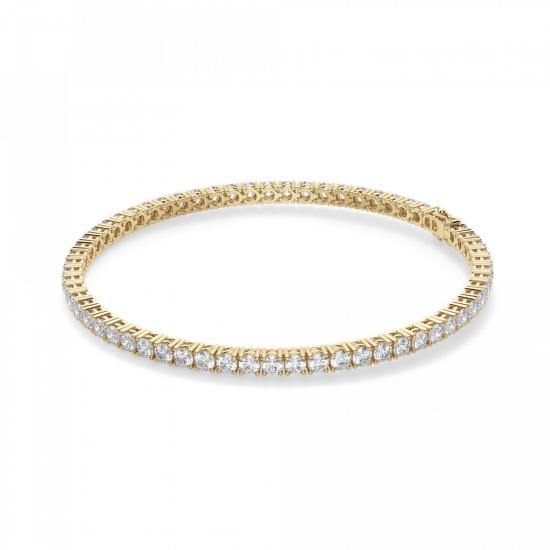 Теннисный браслет из золота с бриллиантами 3,72 кт, Больше Изображение 1