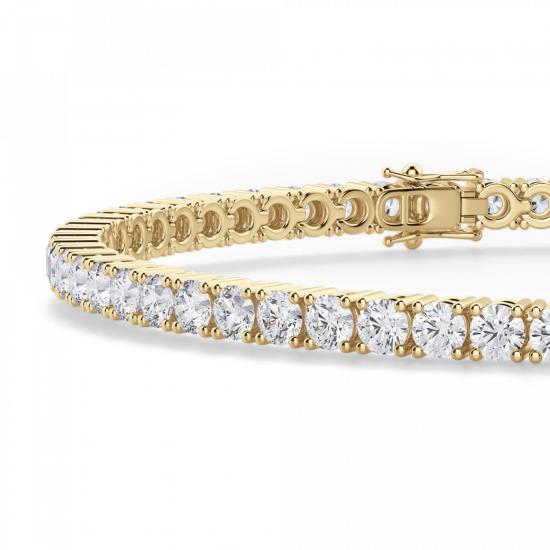 Теннисный браслет из золота с бриллиантами 3,72 кт,  Больше Изображение 2