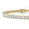 Теннисный браслет из золота с бриллиантами 3,72 кт, Изображение 2