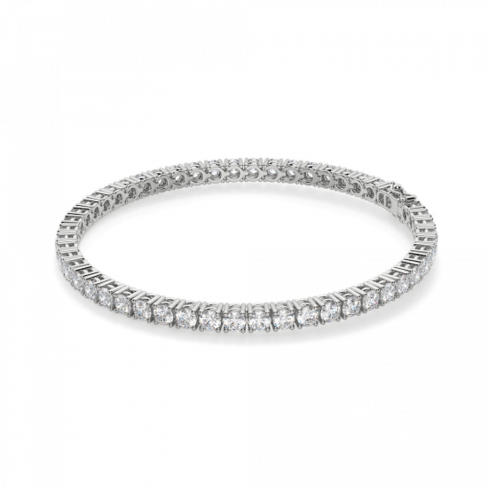 Теннисный браслет с бриллиантами 5,72 карата, Больше Изображение 1