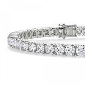 Теннисный браслет с бриллиантами 5,72 карата