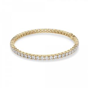 Теннисный браслет из золота с бриллиантами 5,72 кт