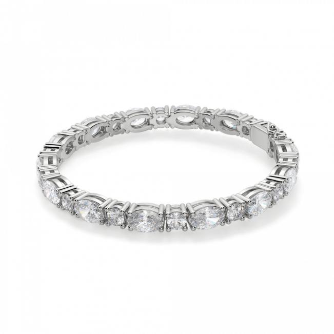 Теннисный браслет с овальными и круглыми бриллиантами