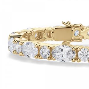 Теннисный браслет с овальными и бриллиантами
