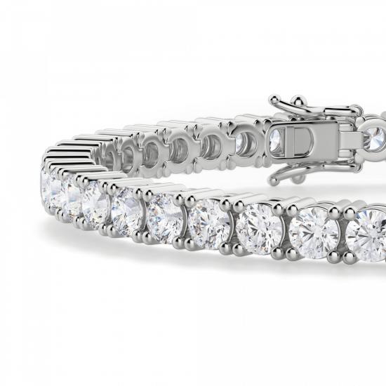 Теннисный браслет с бриллиантами 9.45 карата,  Больше Изображение 2
